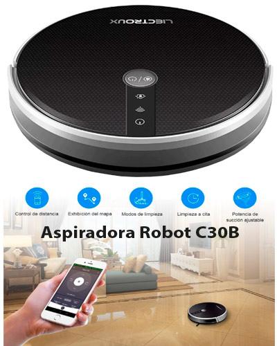 ASPIRADORA ROBOT IMPORT C30B INTELIGENTE LIECTROUX, DIAMETRO 12